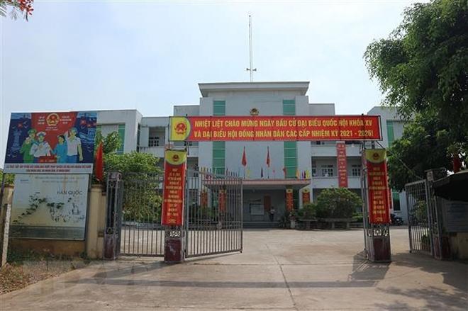 Trụ sở Đảng ủy, UBND xã Tráng Việt (Mê Linh, Hà Nội).