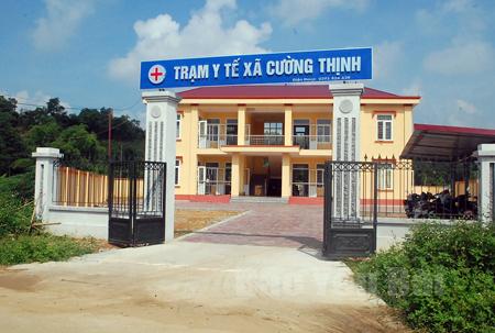 Trạm Y tế xã Cường Thịnh mới được đầu tư xây dựng, góp phần từng bước hoàn thành các tiêu chí  XDNTM.