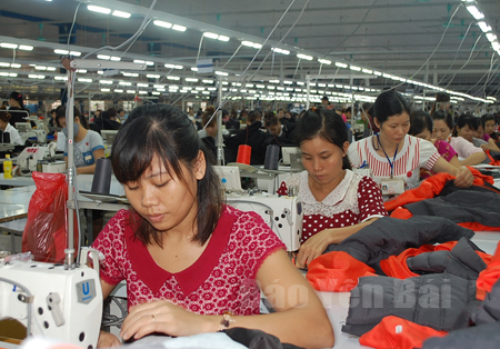 Nhờ được đào tạo nghề, nhiều hội viên phụ nữ đã trở thành công nhân may mặc có thu nhập ổn định.