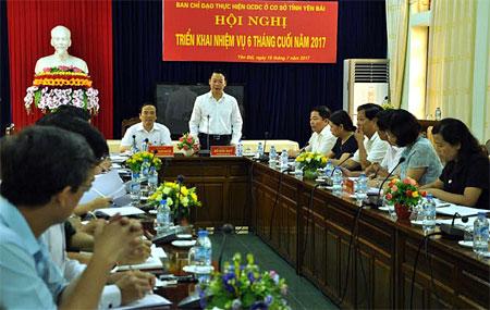 Đồng chí Đỗ Đức Duy – Phó Bí thư Tỉnh ủy, Chủ tịch UBND tỉnh phát biểu chỉ đạo Hội nghị.