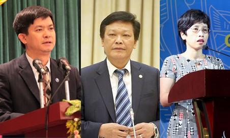 Ông Lê Quang Tùng, ông Nguyễn Duy Thăng và bà Nguyễn Thị Phú Hà.