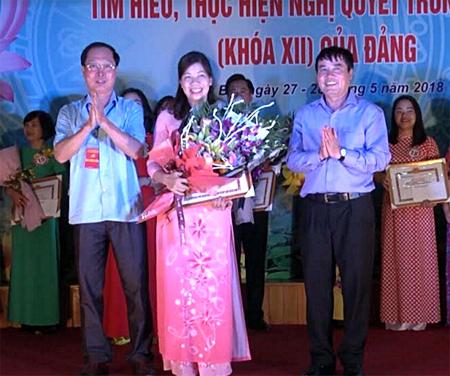 Phạm Thị Ngọc Ánh đã giành giải Nhì trong Hội thi tìm hiểu, thực hiện Nghị quyết Trung ương 4, khóa XII, vòng sơ khảo, Cụm thi số 2.