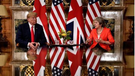 Thủ tướng Anh và Tổng thống Mỹ tại Chequers.