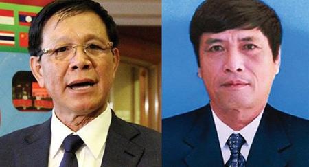Kết quả điều tra vụ án có đủ căn cứ xác định Phan Văn Vĩnh (bên trái) đã có hành vi lợi dụng chức vụ quyền hạn giúp bị can Nguyễn Thanh Hóa (bên phải) và bị can Nguyễn Văn Dương tổ chức đánh bạc trực tuyến trên internet.