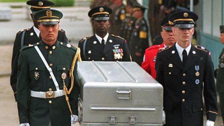 Mỹ và Triều Tiên dự kiến trong ngày 16/7 sẽ thảo luận các biện pháp và thời điểm để trao trả hài cốt binh lính Mỹ.