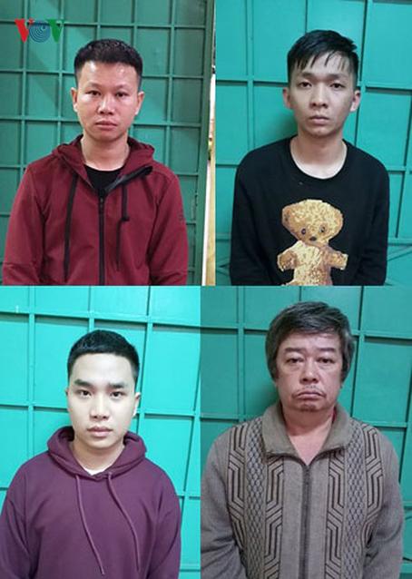 Các đối tượng bị tạm giữ (nguồn Cổng thông tin Công an tỉnh Gia Lai).