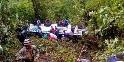 Một vụ tai nạn xe buýt tại Ấn Độ. (Ảnh minh họa