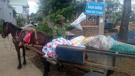 Mô hình thu gom, xử lý rác thải ở thị trấn Nông trường Nghĩa Lộ đã nâng cao ý thức, trách nhiệm của người dân trong giữ gìn vệ sinh môi trường.