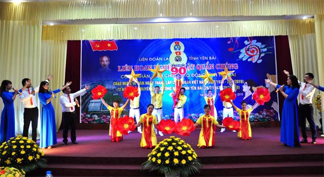 Tiết mục tham gia Liên hoan của Liên đoàn Lao động huyện Văn Yên.