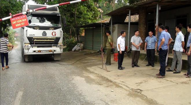 Đoàn công tác tỉnh kiểm tra, giám sát công tác phòng, chống bệnh dịch tả lợn châu Phi tại huyện Lục Yên