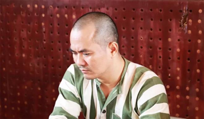 Lưu Văn Nguyện tại cơ quan công an.
