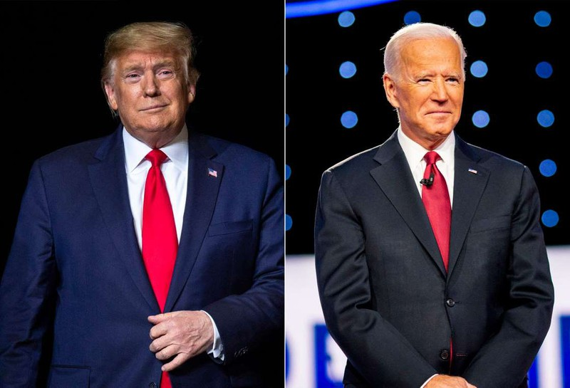 Tổng thống Trump và ứng viên đảng Dân chủ Joe Biden.