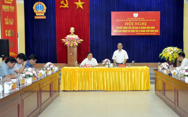 Hội nghị sơ kết công tác thi đua Cụm thi đua Hội Luật gia các tỉnh miền núi phía Bắc.