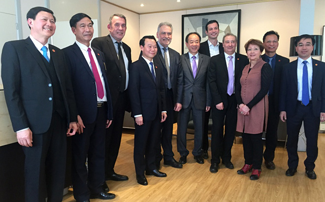 Do Duc Duy - Vice Secretary of the Yen Bai provincial Party Committee and Chairman of the provincial People's Committee – on a working visit to Val de Marne province in France.