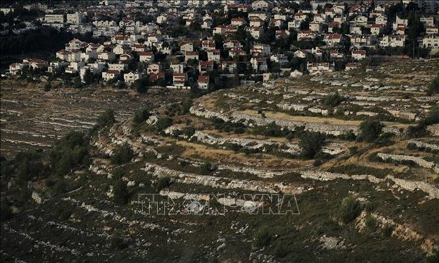 The Jewish settlement of Givat Zeev in West Bank.