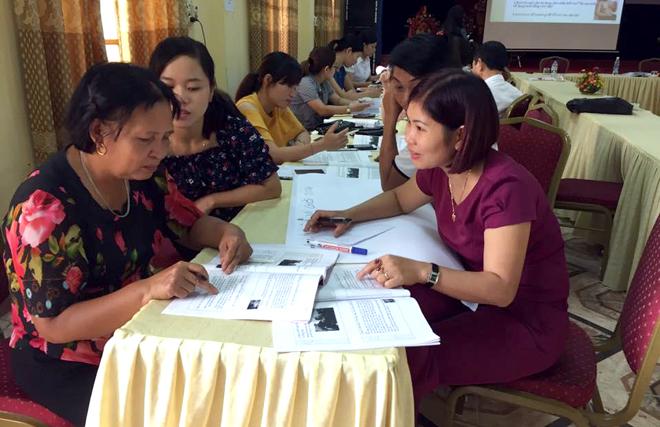 Tập huấn nâng cao kỹ năng tuyên truyền bình đẳng giới cho cộng tác viên cấp xã, phường.