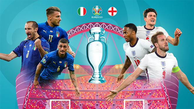 Italia đại chiến Anh ở chung kết EURO 2021.