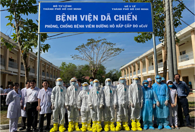 Bệnh viện dã chiến được triển khai nhanh gọn, kịp thời nhằm ngăn chặn dịch lây lan tại thành phố Hồ Chí Minh.