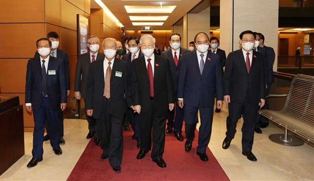 Party General Secretary Nguyen Phu Trong, and other Party and State leaders to the event.