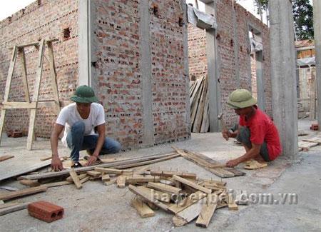 Trường mầm non của xã Văn Lãng đang được đầu tư xây dụng.