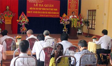 Đồng chí Tạ Văn Long phát biểu tại lễ ra quân.