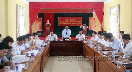 Đồng chí Hoàng Xuân Nguyên- Phó chủ tịch UBND tỉnh, Chủ tịch Hội đồng thẩm định kết luận Hội nghị.