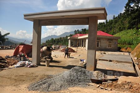 Trạm Y tế xã Mồ Dề (Mù Cang Chải) đang được đầu tư xây dựng.