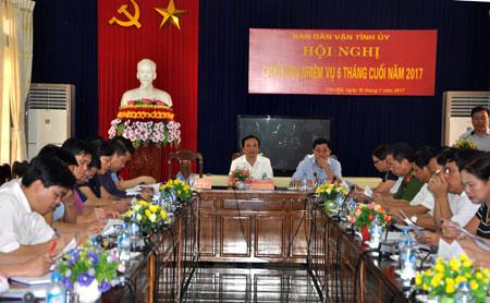 Hội nghị triển khai nhiệm vụ công tác của Ban Dân vận trong những tháng cuối năm 2017, trong đó có nhiệm vụ thực hiện tốt Chỉ thị số 05 của Bộ Chính trị.