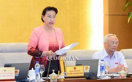 Chủ tịch Quốc hội Nguyễn Thị Kim Ngân phát biểu khai mạc Phiên họp 26 của Uỷ ban Thường vụ Quốc hội.