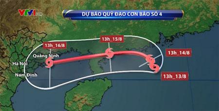 Từ đêm 15/8 đến ngày 17/8 ở các tỉnh Bắc Bộ và Bắc Trung Bộ sẽ có mưa to đến rất to.
