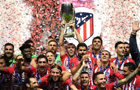 Atletico Madrid lần thứ 3 giành Siêu Cúp châu Âu.