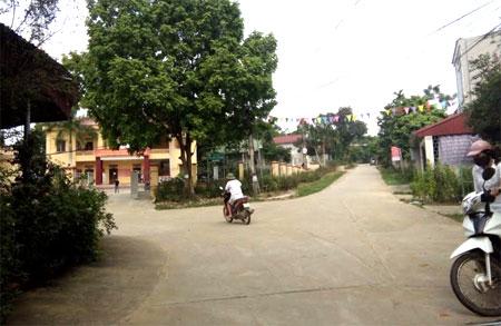 Trung tâm xã Cường Thịnh đã mang dáng dấp của một thị tứ.