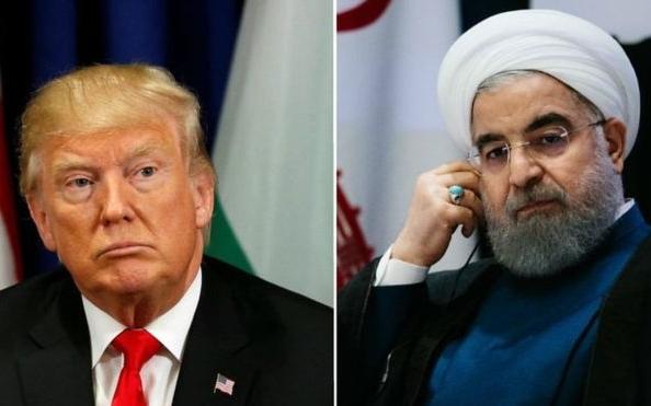 Lãnh đạo Mỹ Trump và Iran Rouhani.