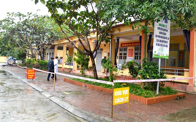 Khu vực cách ly tại Trung tâm Y tế huyện Trấn Yên.