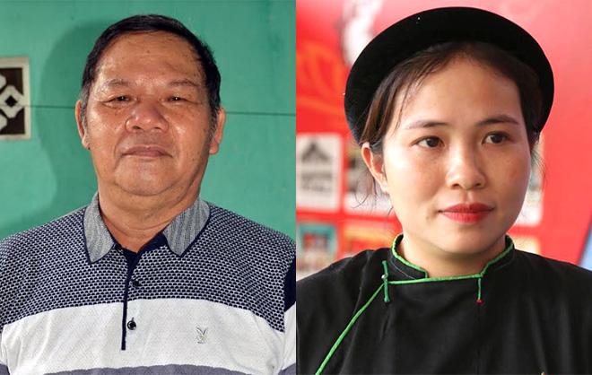 Ông Lê Hoài Đăng (trái) và bà Triệu Thị Thái (phải).