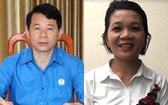 Ông Phan Tiến Thạch (trái) và bà Hoàng Thuyết Lập (phải)