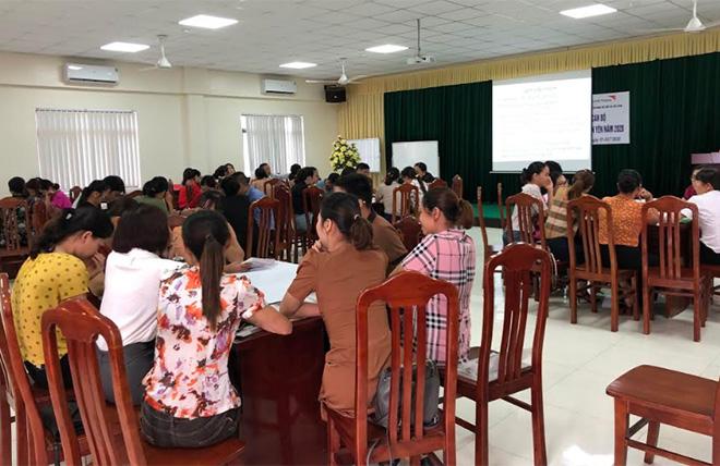 Sở Lao động - Thương binh và Xã hội đã mở 6 lớp tập huấn nâng cao năng lực cho thành viên nhóm thường trực bảo vệ trẻ em cấp xã.