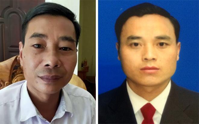 Ông Nguyễn Văn Cương (bên trái) và ông Thào A Tàng (bên phải)