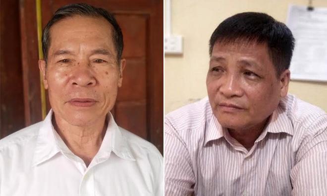 Ông Hà Văn Kìa (trái) và ông Đỗ Xuân Túc (phải)