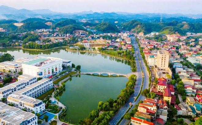 Một góc thành phố Yên Bái.