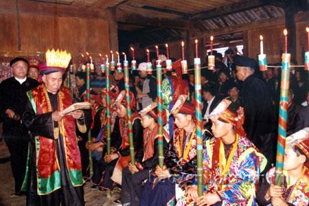 Lễ cấp sắc của đồng bào Dao xã Nậm Lành (Văn Chấn). (Ảnh: Xuân Tình)