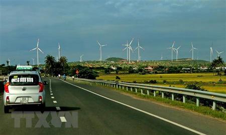 Hệ thống điện gió trên địa bàn tỉnh Ninh Thuận.