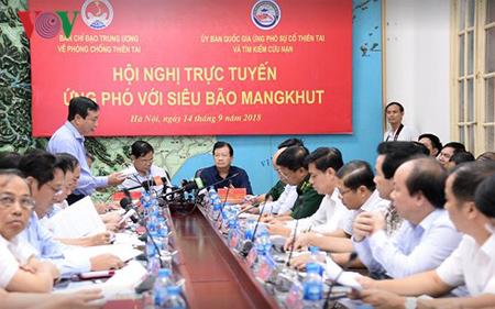 Cuộc họp đối phó với siêu bão Mangkhut.