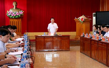 Chủ tịch UBND tỉnh Đỗ Đức Duy phát biểu kết luận Hội nghị.