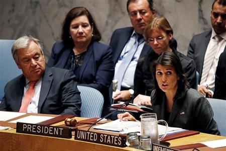 Đại sứ Mỹ tại Liên Hợp Quốc Nikki Haley.