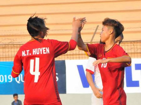 U16 nữ Việt Nam lại có chiến thắng đậm.