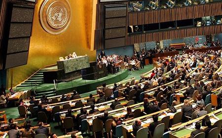 Một phiên họp Đại hội đồng Liên Hợp Quốc