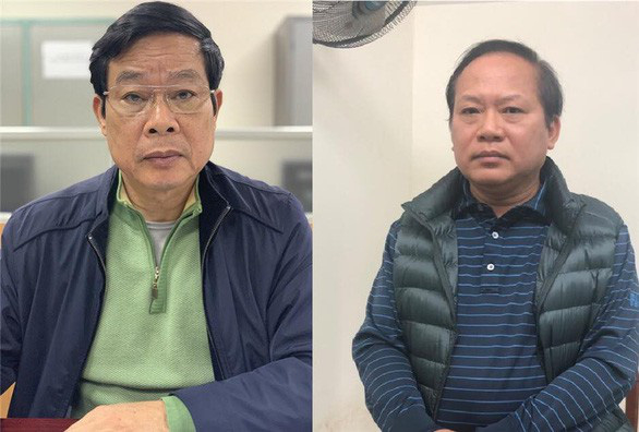 Bị can Nguyễn Bắc Son (trái) và bị can Trương Minh Tuấn - Ảnh: Bộ Công an.