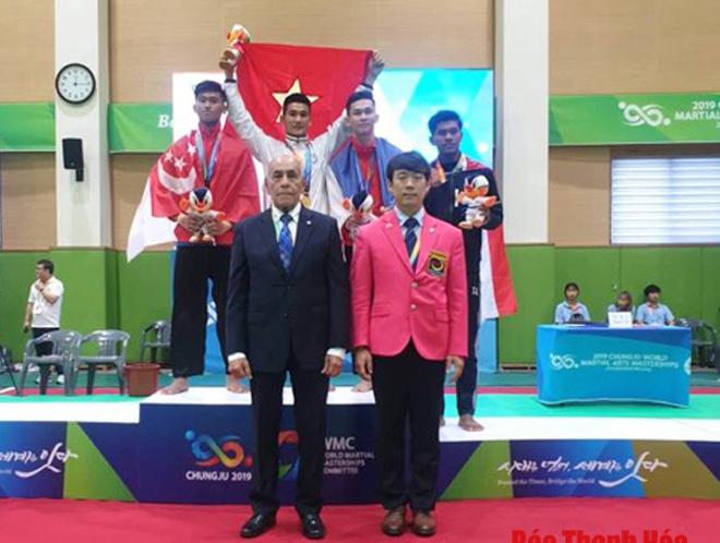 Nguyễn Ngọc Toàn giành tấm HCV quý giá cho đoàn Việt Nam ở môn Pencak Silat.