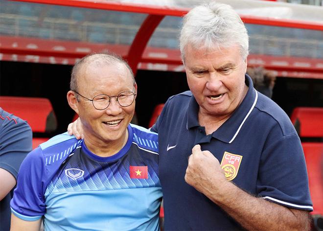 HLV Park Hang Seo gặp lại thầy cũ Hiddink.